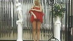 Horny naked blonde enjoys her sex toys
