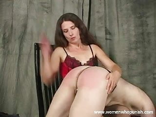 Japanese hand spank - Leda spanks her naughty slave with her hands and paddle