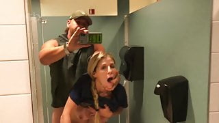 Boss Visits The Sexy Nurse in Hospital's Bathroom