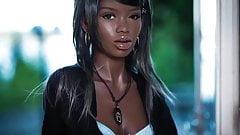 Hot ebony sex doll, blowjob anal creampie fantasies