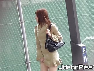 Cop takes a pee - Japanese cuties take panties off to pee in hidden places