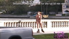 She Rollerblades Naked Down A Busy Street