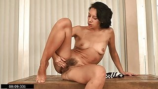 Latvian housewife and hairy mommy Eva masturbates - 1, 3 scenes