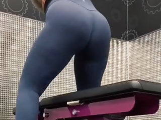 Thick in pantyhose Thick ass working out