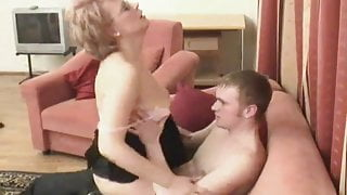 Russian stepmom is fucked by her boy