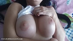 Amateur Teen with beautiful big tits is fucked by her stepbrother