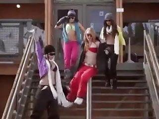 American girls naked - Girls snowboarding naked