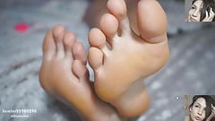BTH shows her sweet soles and toes. POV. 1080p. ( Part 1 )