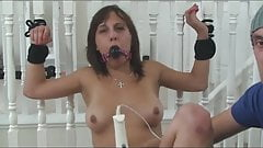 Slut Tied Up and made to Cum!