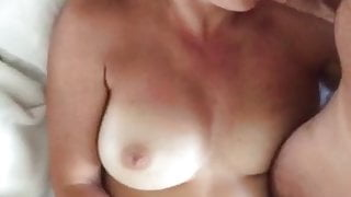 Young couple masturbate together
