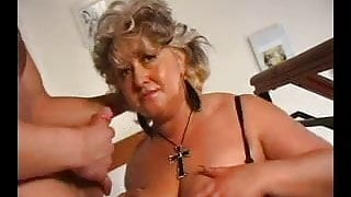 SEXY STEP MOM n100 blonde mature bbw with a young man