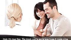Weißes Paar beim Besuch von Dr. Büro