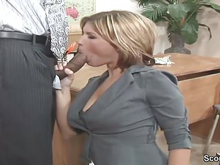 Huge dicks milf - Office milf seduce to fuck by black boss with huge dick