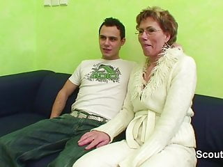 Porn and hiphop Granny caught young boy watch porn and help with fuck