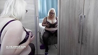Sally playing in the mirror