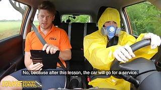 Fake Driving School, Lexi Dona Takes Off her Hazmat Suit