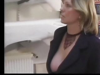 Retro porn stocking free - Lucky guy gets cauth by his blonde milf boss in stockings