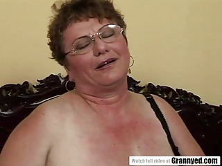 Chubby mature grannies Chubby mature and her young lover