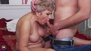 Demented mature step moms seduce young boys