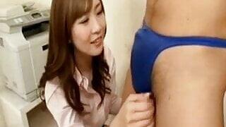 Cock teasing through pants