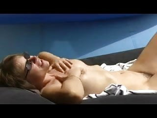 Tgp nude sunbathing Nude sunbather rubbing herself