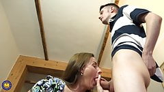 Grannies and mom spoiling young boys