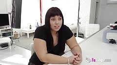 piercing Chubby and shy vicky tries her first casting.  anal orgasem