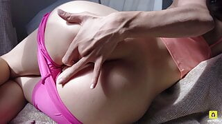 I TOUCH MY ASS AND GET WET - PUSSY SPREADING + ASS FINGERING