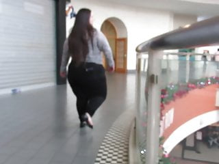 Sweet ass and thighs Short bbw with all fat ass and thick thighs in the mall