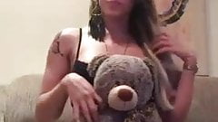 Absolutely sexy little tranny with beautiful boner