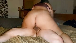 Big Booty Milf Riding for a Creampie