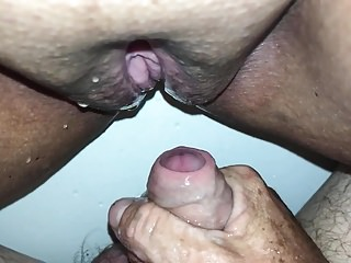 Running water on my clit videos Hubby pissing on my clit short