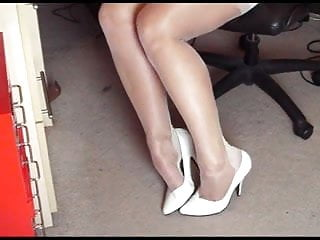 Matures fetish Solo stockings show