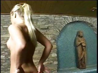 Nude blonde assfuck - Gorgeous thin blonde anal slut gets assfucked and creampie from tattoo guy