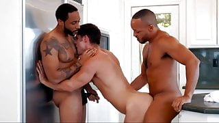 Guy gets double penetrated by two black plumbers