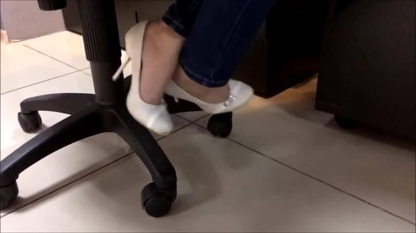 Foot Worship Under Desk