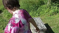 My Wife reluctantly baring her bum for the public Part Three