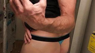 Nice ass in a thong