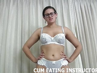 Husband swallows own cum It so hot watching you eat your own cum cei