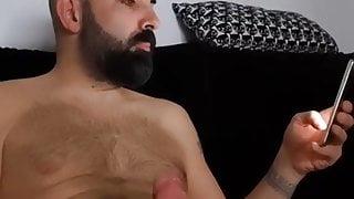 Fit bald guy cums a lot