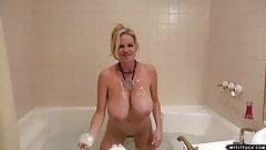 MYTITFUCK Big natural tits Kelly Madison soapy titfuck