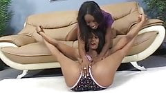 Hot pussy licking with two ebony lesbians