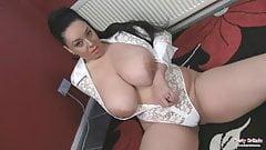 Anatasia Lux, big boobs slut top rubs tits and pussy