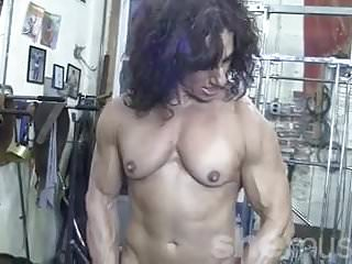 Nude female hollywood stars - Annie rivieccio nude female bodybuilder in the gym