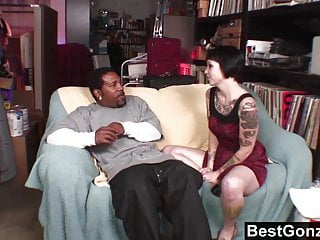 Cock first his huge tom Goth babe wants in on his huge black cock