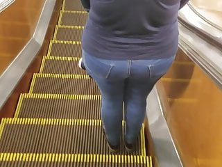 The ass in massive Milf with massive ass in jeans