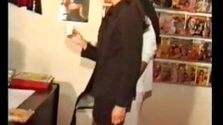 beautiful french wife gangbanged at the sex shop