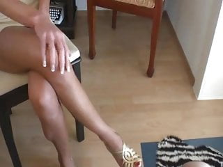 Dicks red nails whores trans Footjob with red nails