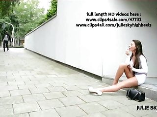 Upskirt miniskirts Best of whore flashing in miniskirt street platform heels