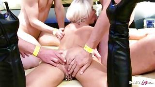 Swinger Party Anal Creampie Gangbang for German Mature Nadja